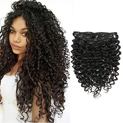 Natural Black Curly Hair Extension