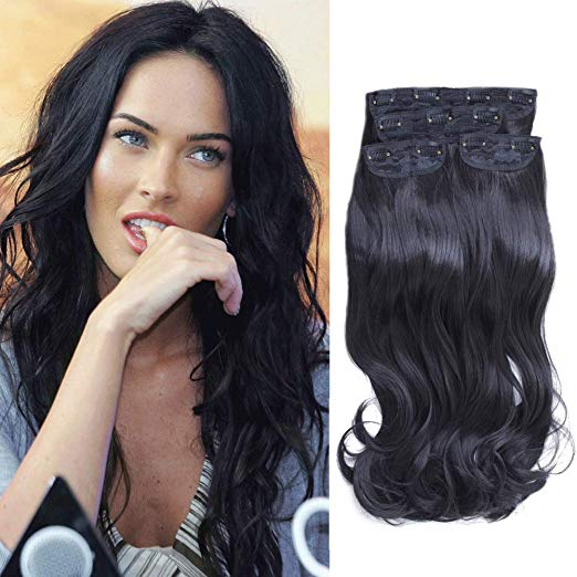 Black Clip in Hair Extensions Attractive Locks