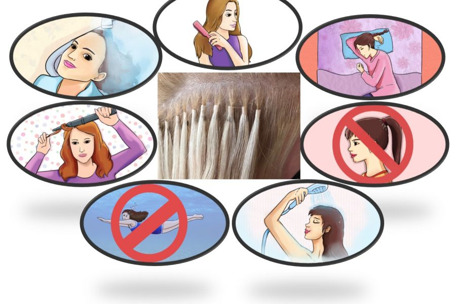 How to care for microring hair extensions