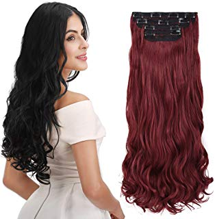 Long luscious Red Clip In Hair Extensions