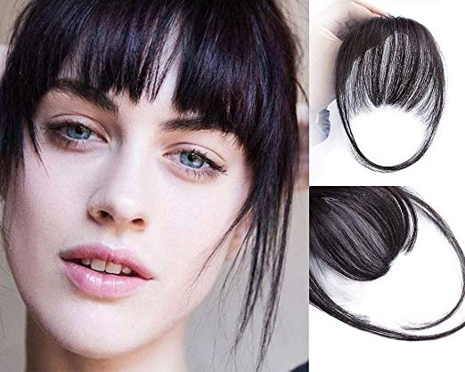 Short Hair Fringe Hair Extension Clip Ins